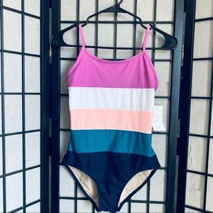 Old Navy girls NWT Colorblock one piece swimsuit
